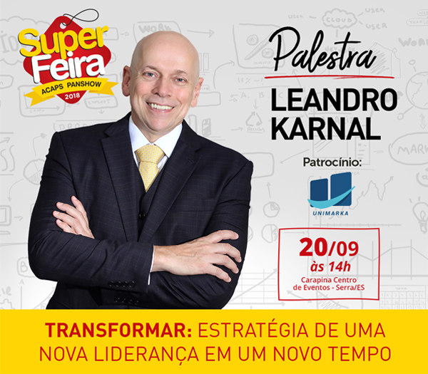 Unimarka formaliza patroc�nio � palestra de Leandro Karnal