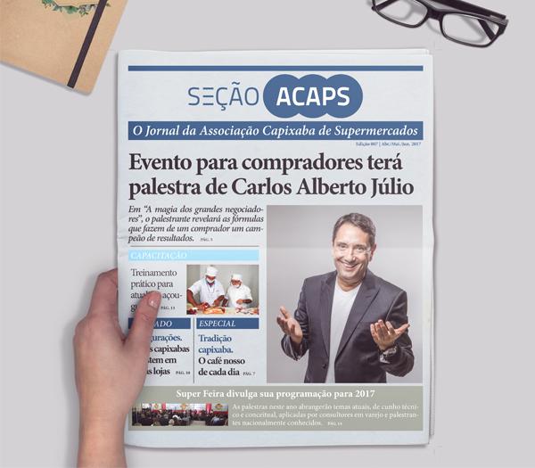 Se��o Acaps. Lan�ada a 7� edi��o do jornal institucional da associa��o.