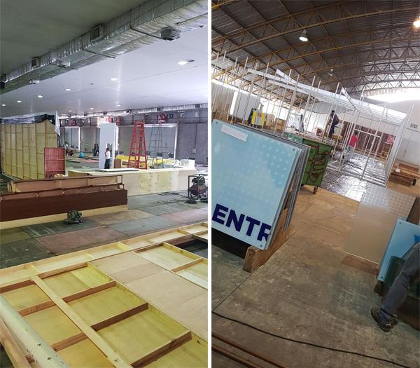 Montagem dos estandes da Super Feira � iniciada no Carapina Centro de Eventos